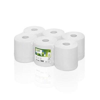 Poetsrol Satino CF1 tissue 1-laags wit 300m (6 stuks)