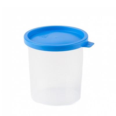 Urinebeker klemdeksel blauw