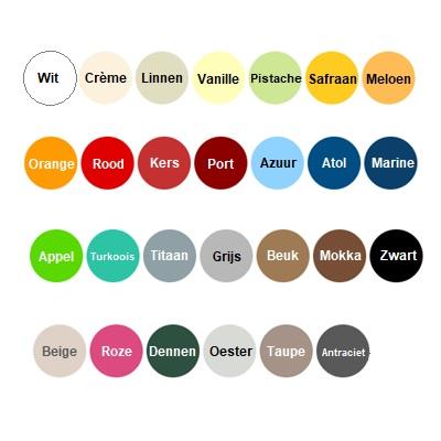 Tabouret-kleurenpalet